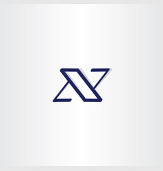 Blue x logotype icon letter vector