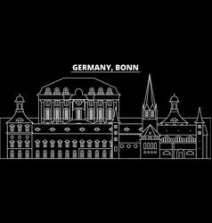 bonn silhouette skyline germany - bonn vector image