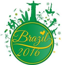 Brazil symbol background vector