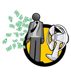 Business fan symbol vector