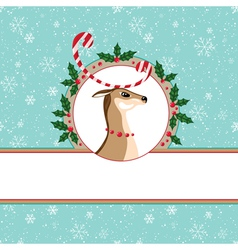 Candy deer card vector image