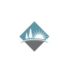 cedar tree logo template vector image