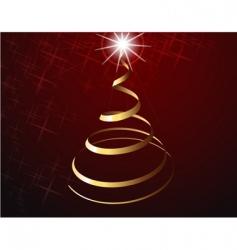 Christmas tree strip vector image
