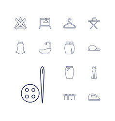 Cloth icons vector