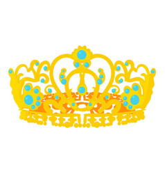 Crown of the queen icon cartoon style vector