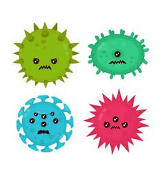 Cute angry evil bad fly germ virus vector