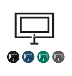 display monitor outline graphic vector image