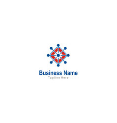 Dot technology square business logo vector
