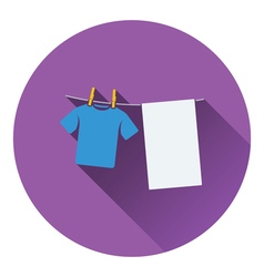 Drying linen icon vector