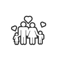 family icon design template vector image