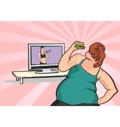 fat young girl wants to lose weight vector image