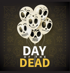 festive card of day of the dead vector image