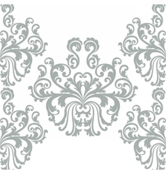 Floral ornament damask pattern vector