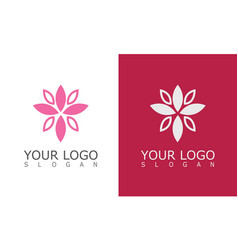 flower beauty logo vector image