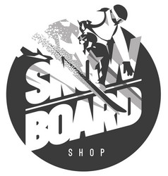 freeride snowboarder in motion sport logo or vector image
