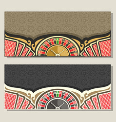 Gamble banners vector