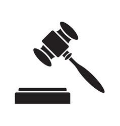 Gavel court hammer glyph icon vector