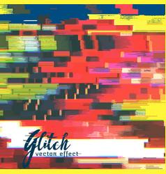 Glitch failure corupt image background vector