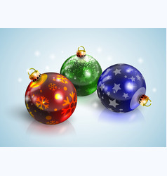 graphic realistic shiny new year christmas balls vector image