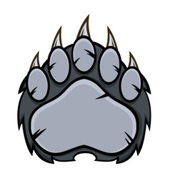 Gray bear paw with claws vector
