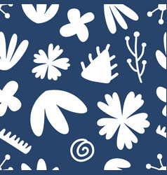 Hand drawn floral seamless repeat pattern vector