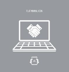 Handshake for web success vector