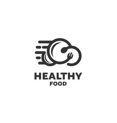 health food logo designs vector image
