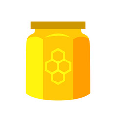 honey canned in jar product vector image