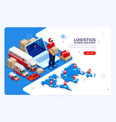 Industry of shipment and web delivery vector