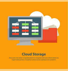 Internet files online cloud storage technology vector
