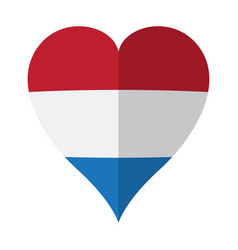 isolated flag of netherlands on a heart shape vector image