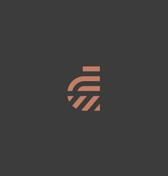 Letter d line logo design creative vector