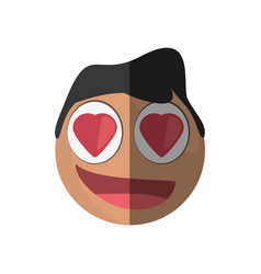 Love emoticon cartoon design vector