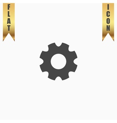 Machine gear icon vector