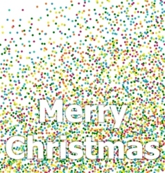 Merry Christmas lettering on colorful confetti vector image