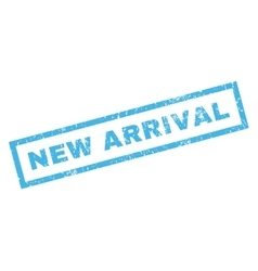 New Arrival Rubber Stamp vector image