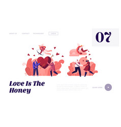 people in love and romantic relationship website vector image