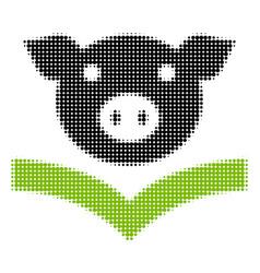 Pig knowledge halftone icon vector