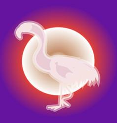 pink flamingo neon vector image