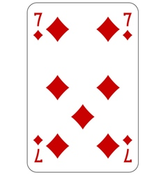 Poker playing card 7 diamond vector image