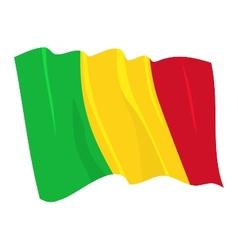 Political waving flag mali vector