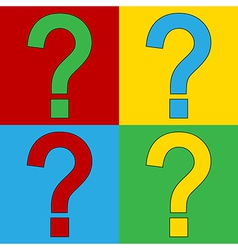 Pop art question icons vector