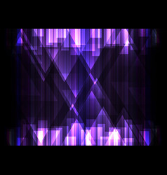 Purple crystal line dark abstract background vector