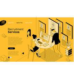 recruiting and hiring template vector image