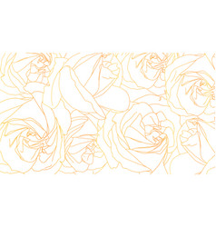roses bud outlines floral pattern with roses vector image