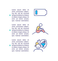 Sad warning sign concept icon with text vector