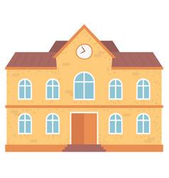 school educational institution exterior building vector image