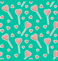 seamless pattern background with stickers vector image