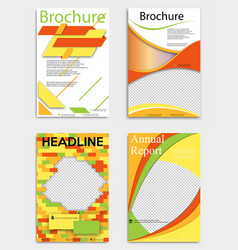 set of abstract brochure template flyer layout vector image