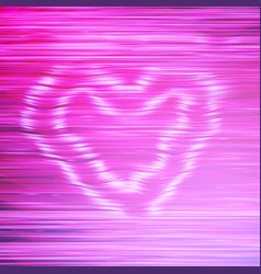 Smoke pink heart vector